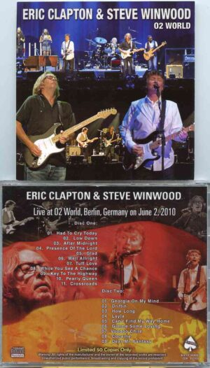 Traffic - Live At 02 World ( 2 CD!!!!! ) ( W/  Eric Clapton  Live at 02 World , Berlin , Germany , June 2nd , 2010 )
