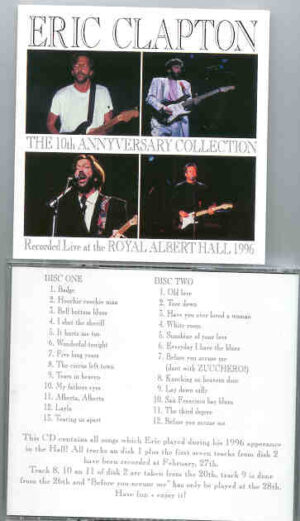 Eric Clapton - 10th Anniversary Collection ( 1996 Live at the Hall ) ( 2 CD!!!!! set )