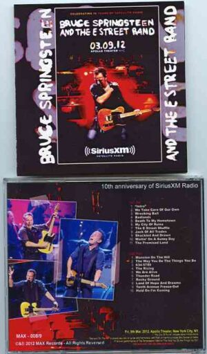 Bruce Springsteen - 10th Anniversary Of Sirius XM Concert ( 2 CD!!!!! SET ) ( New York , USA , March 9th , 2012 )