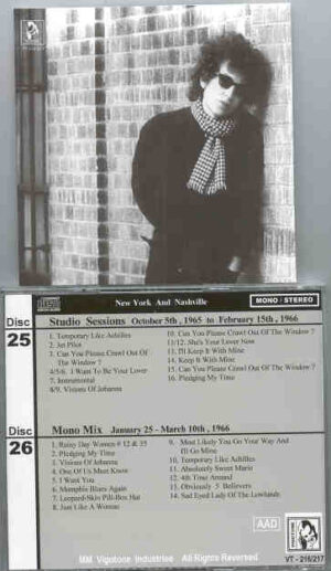 Bob Dylan - 1966 Definitive Collection Jewels & Binoculars 25/26 ( Vigotone ) ( 2 CD!!!!! SET )