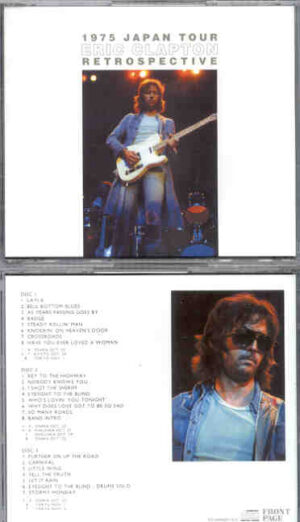 Eric Clapton - 1975 Japan Tour Retrospective ( 3 CD SET ) ( Osaka , Kyoto , Fukuoka , Tokyo , Shizuoka )