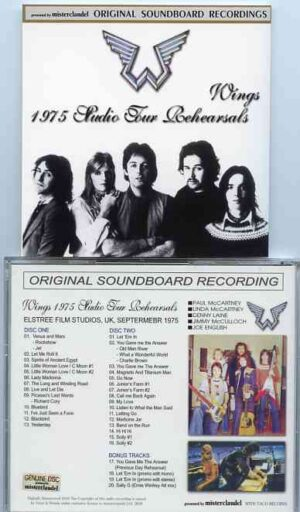 Paul McCartney - 1975 Wings Studio Tour Rehearsals ( Masters One ) ( 2 CD!!!!! SET )( Misterclaudel )