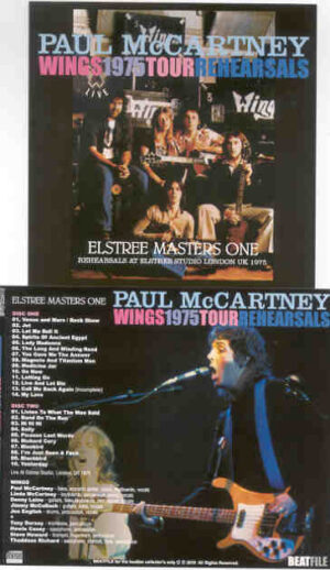 Paul McCartney - 1975 Wings Tour Rehearsals  ( Masters One ) ( 2 CD!!!!! SET ) ( BEATFILE )
