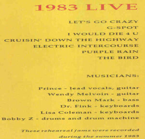 Prince - 1983 Live ( Rehearsals during the summer of 1983 )