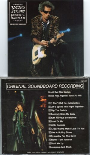 Rolling Stones - 1998 Nervous Breakdown ( Vinyl Gang ) ( Live at River Plate Stadium , Buenos Aires , Argentina , March 30th , 1998 )