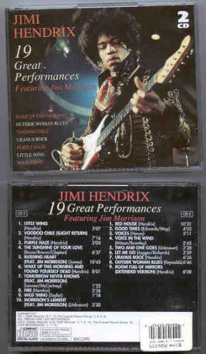 Jimi Hendrix - 19 Great Performances ( 2 CD!!!!! Set ) ( Unreleased tracks Featuring Jim Morrison )