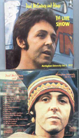 Paul McCartney - 1st Live Show ( Nottingham University , February 9th , 1972 )