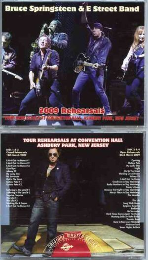 Bruce Springsteen - 2009 Rehearsals ( 4 CD SET + 20 pages booklet ) ( Closed Rehearsals 3/18/09 & Open Rehearsals 3/23/09 )