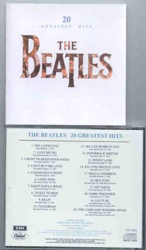 The Beatles - 20 Greatest Hits  ( EMI Capitol Release on CD )