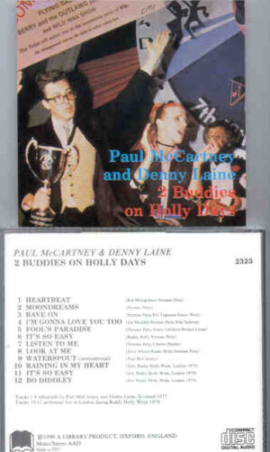 Paul McCartney - 2 Buddies On Holly Days ( Library Records )