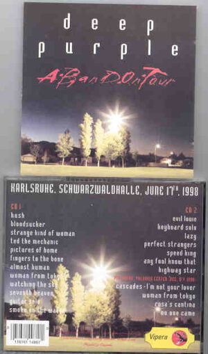 Deep Purple - A Band On Tour ( 2 CD!!!!! set ) ( Harlsruhe , Schwarzwaldhalle , June 17th , 1998 )