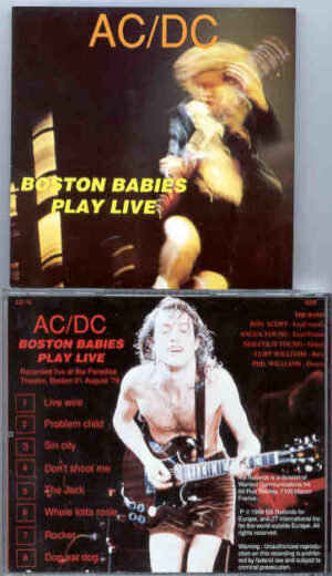 Ac-Dc - Boston Babies Play LIVE  ( Paradise Theater , Boston , MA , USA , August 21st , 1978 )