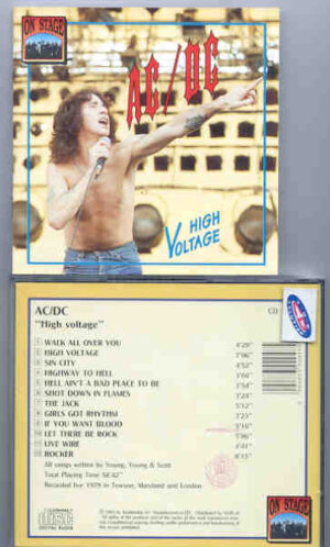 Ac-Dc - High Voltage ( Live 1979 ) ( On Stage Recs ) ( Towson , Maryland & London 1979 )