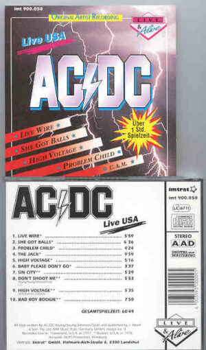 Ac-Dc - Live in USA Vol. 1  ( Cleveland 1977 - Boston 1978 )