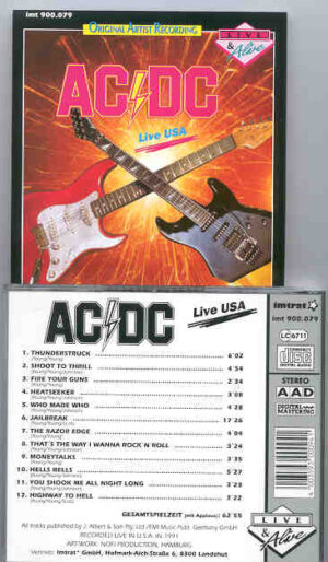 Ac-Dc - Live in USA Vol. 3  ( During US Tour 1991 )