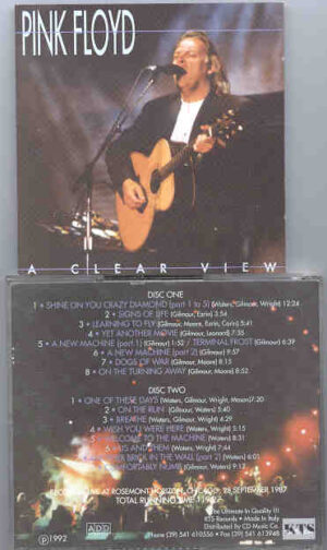 Pink Floyd - A Clear View  ( Chicago , September 28th , 1987 )  ( KTS ) ( 2 CD!!!!! SET )