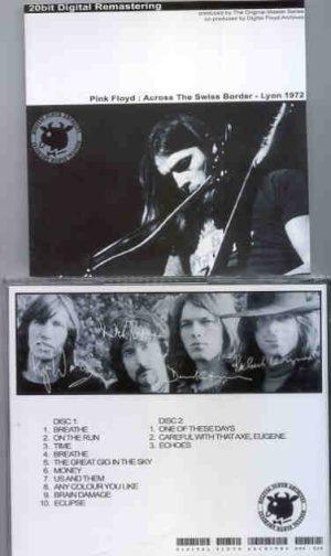 Pink Floyd - Across The Swiss Border ( 2 CD!!!!! SET ) (  Palais des Sports, Lyon, France , Dec. 10th , 1972 )