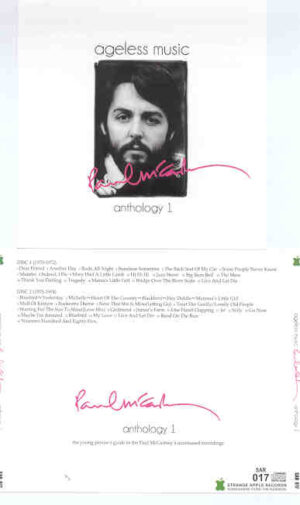 Paul McCartney - Ageless Music , Anthology Vol. 1 ( 2010 Strange Apple ) ( 2 CD!!!!! SET )