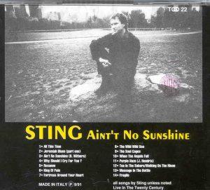 Sting / The Police - Ain't No Sunshine ( Templar )