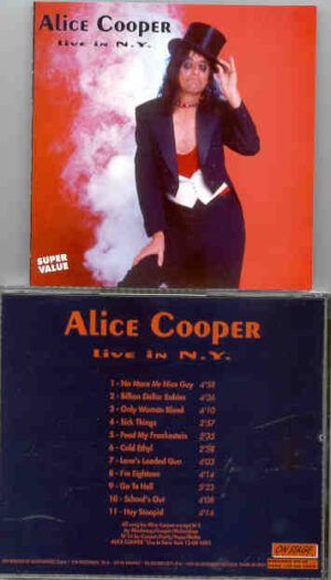 Alice Cooper - Live In New York  ( On Stage ) ( September 13th , 1991 )