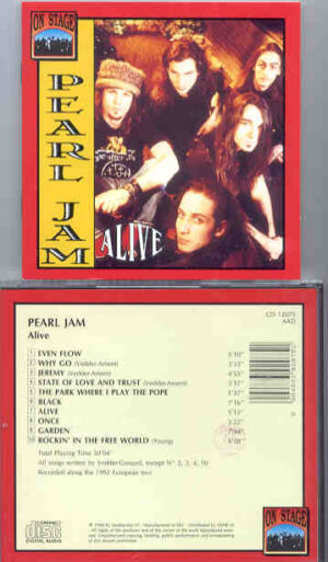 Pearl Jam - Alive ( On Stage Recs ) ( 1992 European Tour )