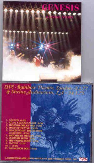 P. Gabriel  /  GENESIS  /  P. Collins - A Living Story ( Rainbow  T. London 2/1/77 & Shrine Aud. , LA,24/1/75 )