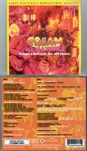 Cream - All In A Tumble ( 2 CD!!!!! set ) ( Cream Alternate Outtakes , inc. BBC Sessions 24 BIT Dig Remastered )