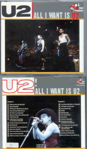 U2 - All I Want Is U2 ( 2 CD!!!!! set )( Great Dane - Red Phantom ) ( Rotterdam , Holland , Jan 1990 )
