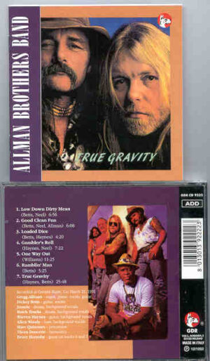 Allman Brothers Band - True Gravity ( Great Dane ) ( Crested Burre , CO , USA , March 21st , 1991 )