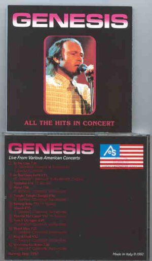 P. Gabriel / GENESIS / P. Collins - All The Hits In Concert ( Live From Various USA Concerts )