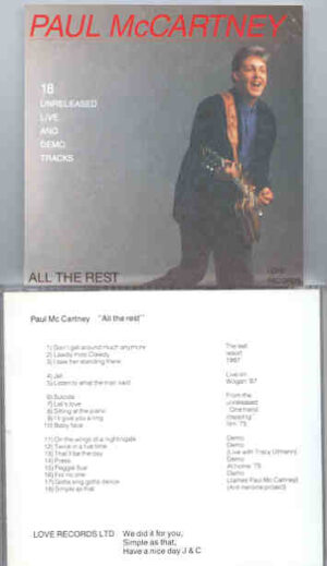Paul McCartney - All The Rest ( LOVE Records )