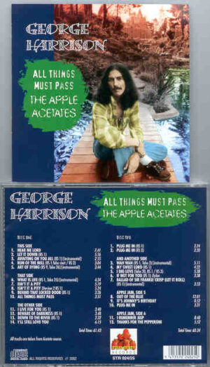 George Harrison - All Things Must Pass The Apple Acetates  ( Strawberry ) ( 2 CD!!!!! set )