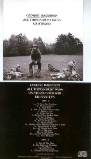 George Harrison - All Things Must Pass  ( 2 CD!!!!! SET ) ( Dr. Ebbetts 2008 )