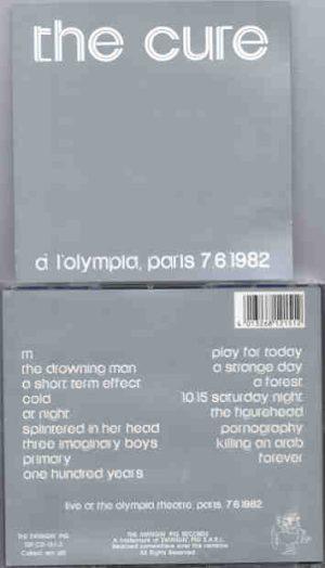 The Cure - A L'Olympia ( 2 CD!!!!! set ) ( Swingin' Pig Recs )