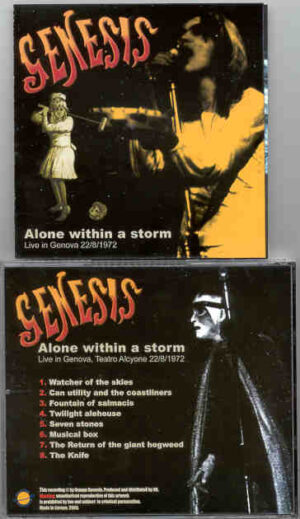 P. Gabriel / GENESIS / P. Collins - Alone Within The Storm ( Live In Genova , August 22nd , 1972 )