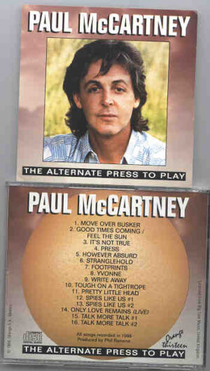 Paul McCartney - Alternate Press To Play ( Orange )