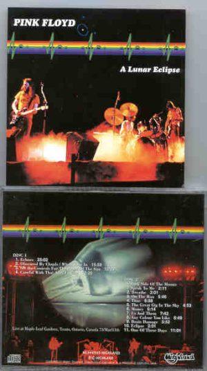 Pink Floyd - A Lunar Eclipse  ( 2 CD!!!!! SET ) ( Highland ) ( Toronto , Ontario , Canada , March 11th , 1973 )