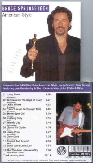 Bruce Springsteen - American Style ( Long Branch , NJ , USA , August 20th , 1994 )