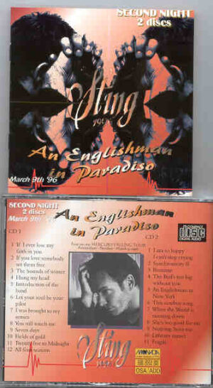 Sting / The Police - An Englishman In Paradise ( Second Night ) ( March 9th , '96 , Amsterdam ) ( 2 CD!!!!! Set )