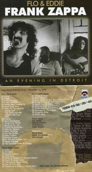 Frank Zappa - An Evening In Detroit ( 3 CD SET ) ( Live at Cobo Arena , Detroit , USA , November 19th , 1976 )