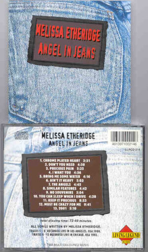 Melissa Etheridge - Angel In Jeans ( Living Legend ) ( Los Angeles , CA , USA , 1988 )
