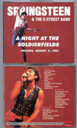 Bruce Springsteen - A Night At The Soldierfields ( 3 cd set ) ( Chicago , USA , August 9th , 1985 )