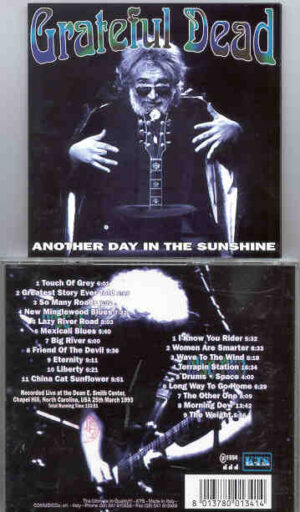 Grateful Dead - Another Day In The Sunshine ( 2 CD!!!!! set ) ( North Carolina , USA , March 25th , 1993 ) ( KTS )