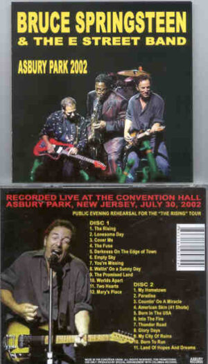 Bruce Springsteen - Asbury Park 2002 ( 2 CD!!!!! SET ) ( Convention Hall , Asbury Park , New Jersey , July 20th , 2002 )