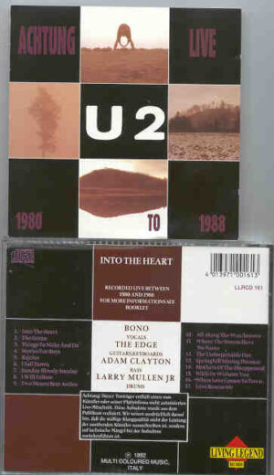 U2 - Atchung Live  ( Living Legend ) ( 17 Unreleased LIVE tracks Recorded Between 1980 and 1988 )