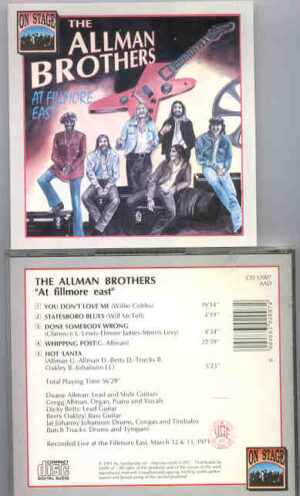 Allman Brothers Band - At Fillmore East ( On Stage ) ( Fillmore East , March 12th & 13th , 1971 )