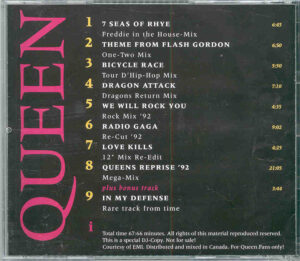 Queen - A Tribute To Freddy Mercury ( Remixes )