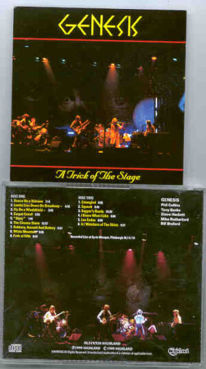 P. Gabriel / GENESIS / P. Collins - A Trick Of The Stage ( Highland )( Syria Mosque , Pittsburgh , USA , April 13th ,'76)( 2 CD!!!!! SET )