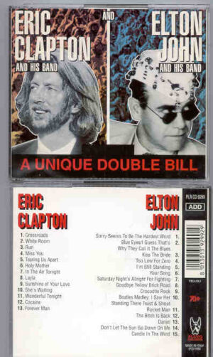 Elton John - A Unique Double Bill ( Eric Clapton - Elton John )  ( Great Dane Recs. ) ( 2 CD!!!!! SET )