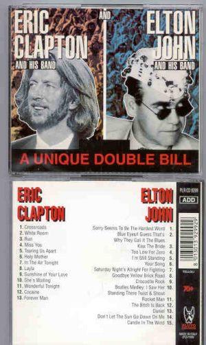 Eric Clapton - A Unique Double Bill  ( Elton John-Eric Clapton ) ( Pluto Recs ) ( 2 CD!!!!! set )